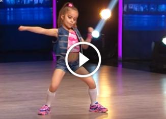 6 летняя Ксения Гурмина. Танцуют все! - невероятный и энергичный танец