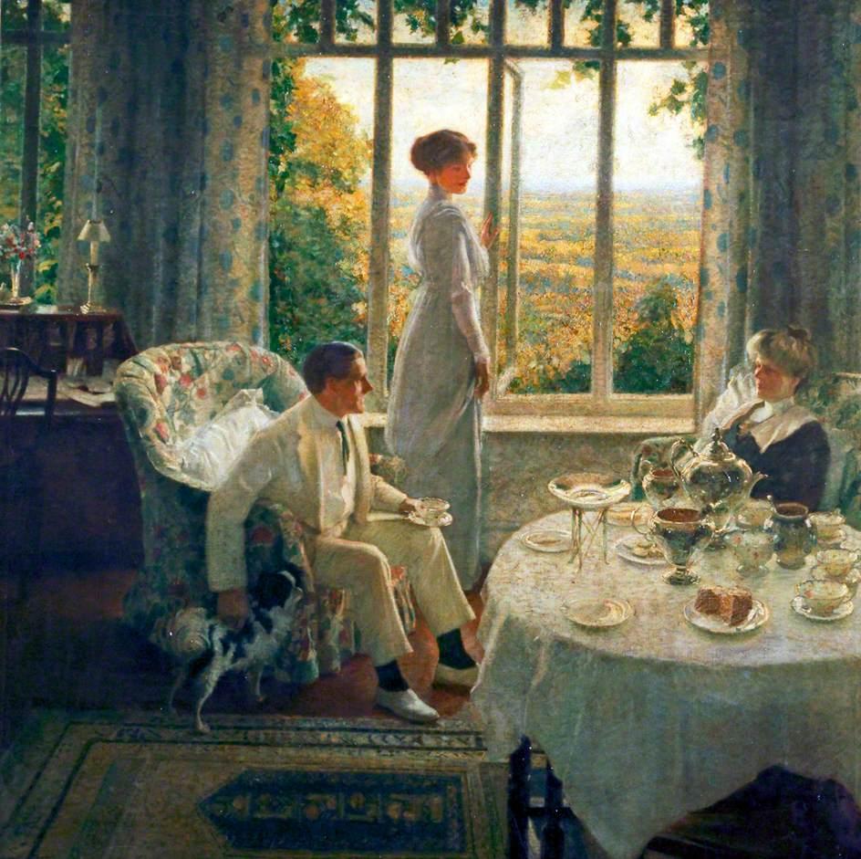 Страсть её таилась молча... Британский художник Leonard Campbell Taylor (1874 - 1969)