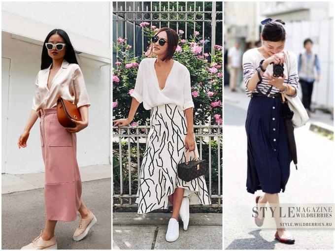 Элегантные и модные юбки миди для офиса!