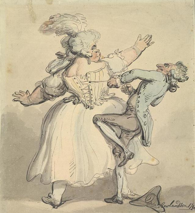Немного туже. Карикатура Томаса Роулендсона. 1790 год