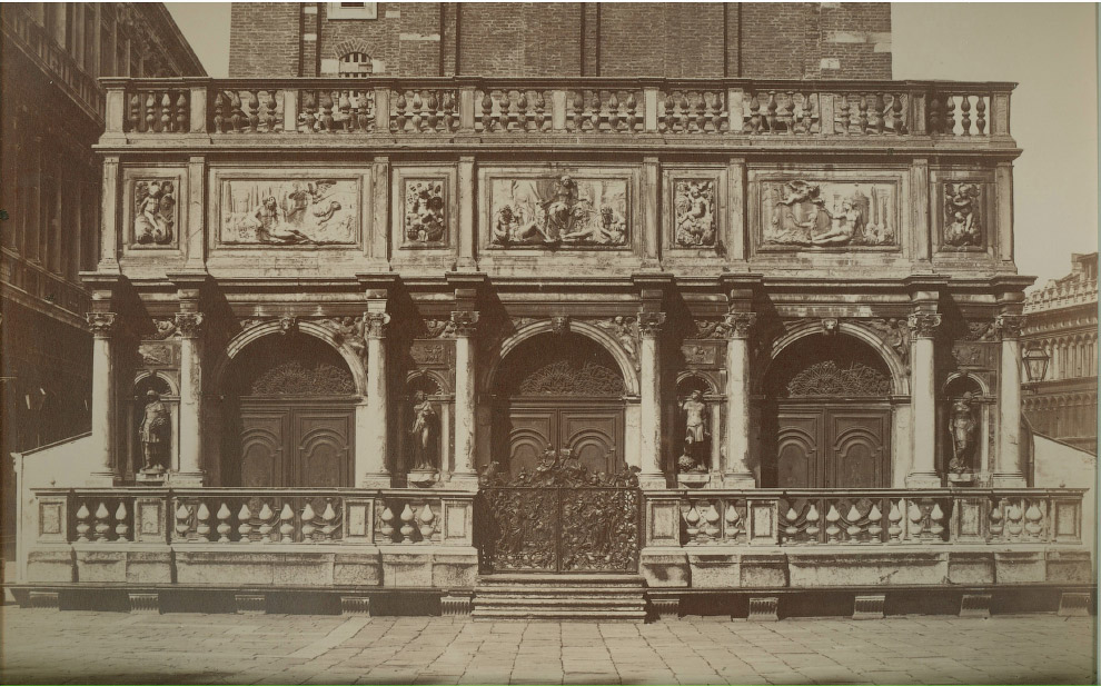 Крыльцо Кампанилы собора Святого Марка. 1875