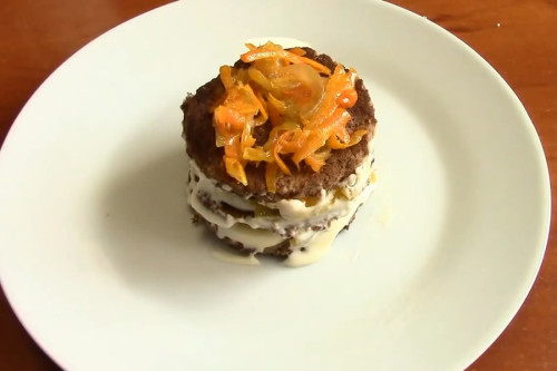 Сформировать порционный тортик