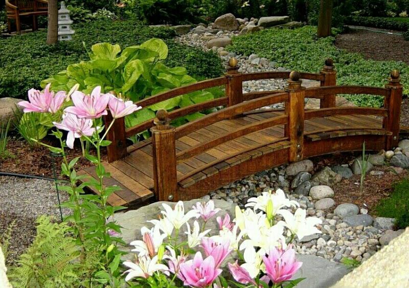 Садовые мостики - украшение вашего участка
