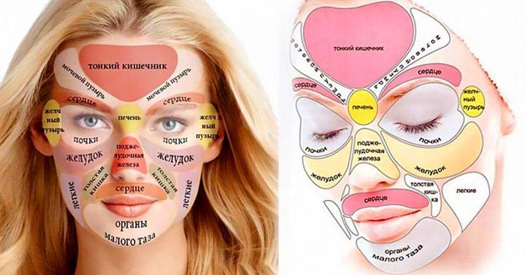 Китайская «карта лица» расскажет, что беспокоит твой организм