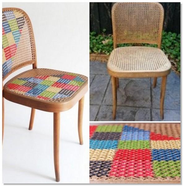 Обновить стул вышивкой крестом