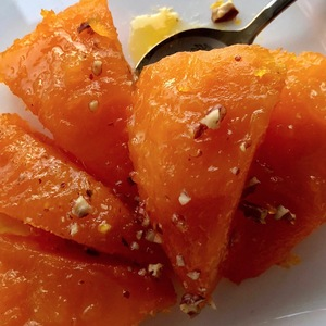 Фото к рецепту: «kabak tatlisi» или тыква с сахаром