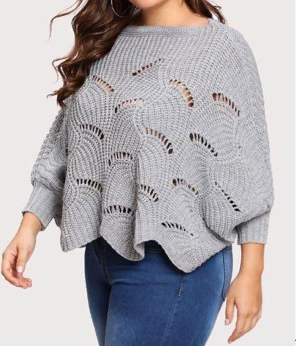 пуловер Ñпицами оверÑайз