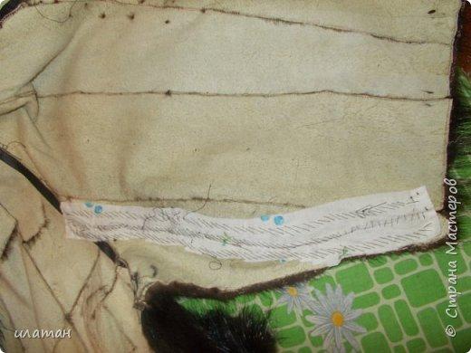 Гардероб Мастер-класс Шитьё Ремонт шубы из натурального меха Клей Мех Нитки Ткань фото 14