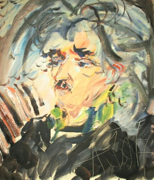 Фото Анатолий Зверев.Портрет художника В.Немухина.1977 г.