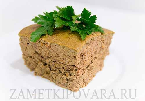 Суфле из печени с рисом