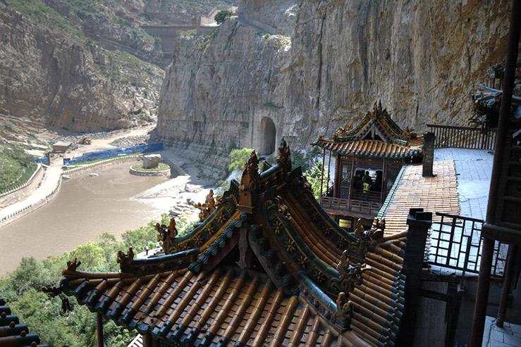 Гора Хэн-Шань в провинции Шаньси в Китае