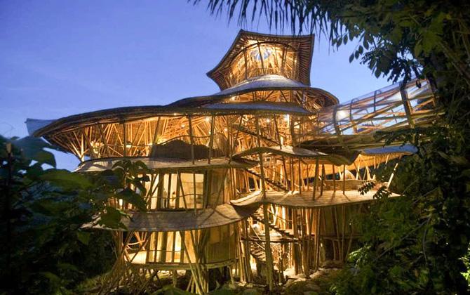 Элора Харди и её бамбуковые дома