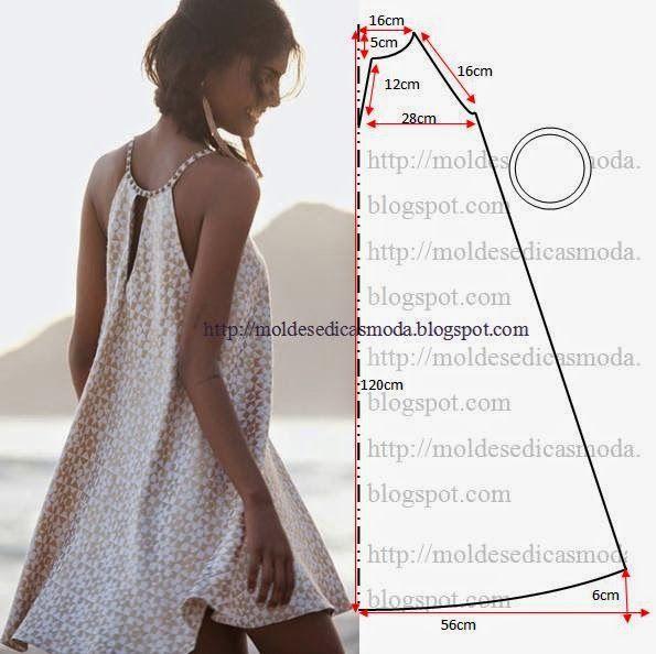 Летнее платье своими руками без выкройки фото