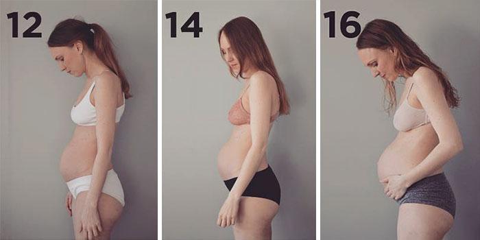 Как выглядит живот женщины беременной тройней, 36-летняя Мария беременна тройней