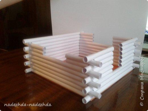Домик из бумажных трубочек своими руками