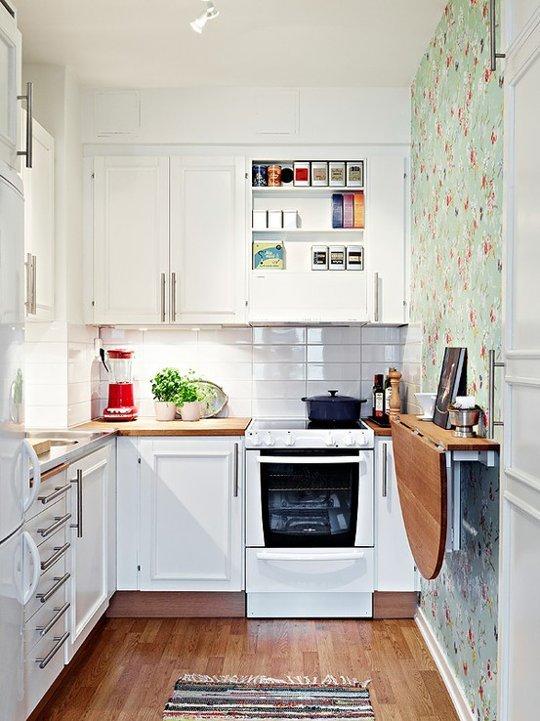 рейлинг на маленькой кухне