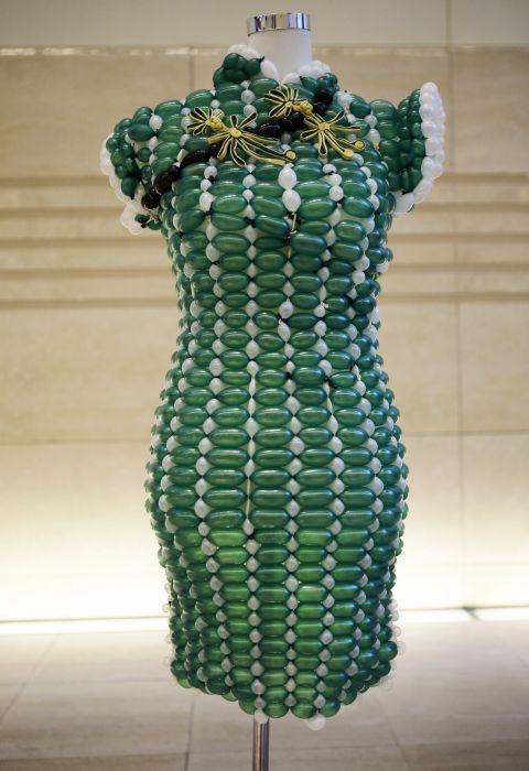 платье из шариков, мода платье, шарики,