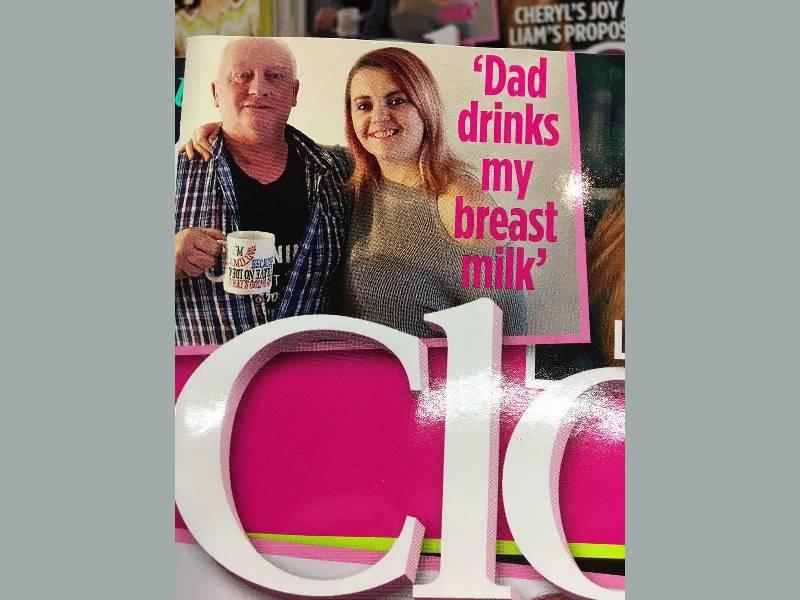 Отец пьет грудное молоко дочери в попытке победить рак кишечника