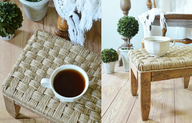 Плетеное сиденья для табуретки своими руками
