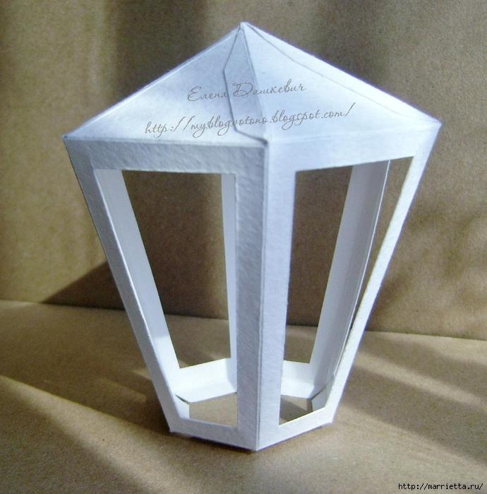 Как делать фонари из бумаги