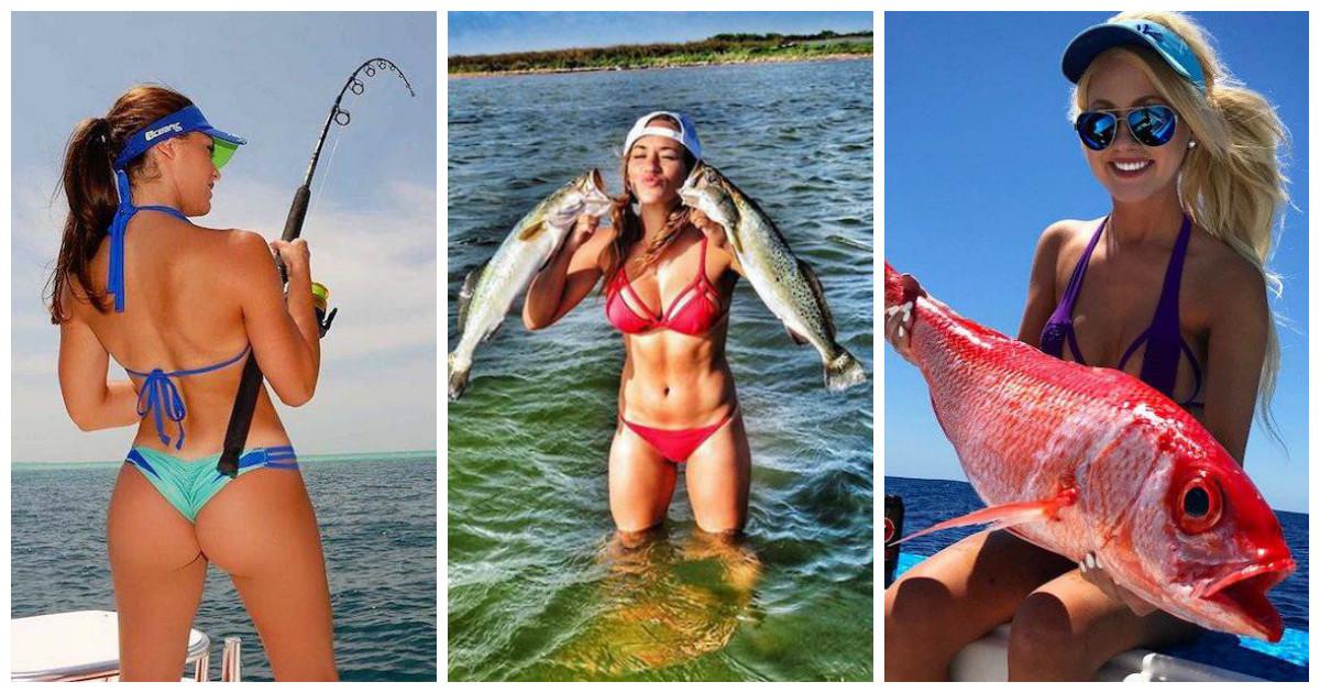 Жаркая рыбалка с прекрасными подругами