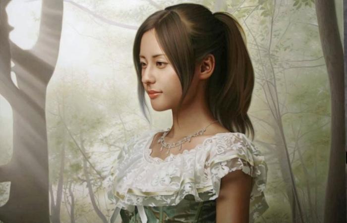 Утончённая красота азиатских девушек, на реалистичных картинах современного японского художника