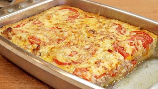 Мясной пирог с картофельным тестом - видео рецепт