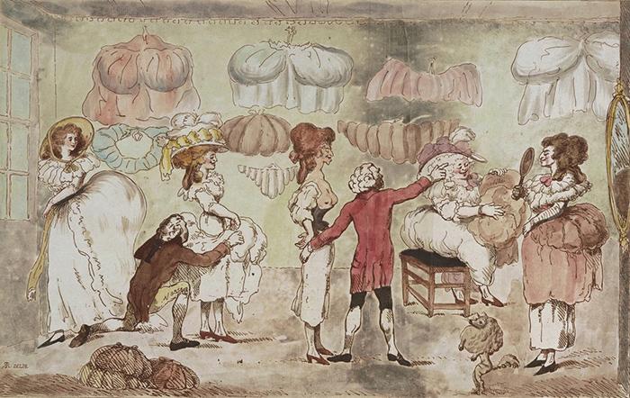 Магазин задов. Английская карикатура. 1785 год