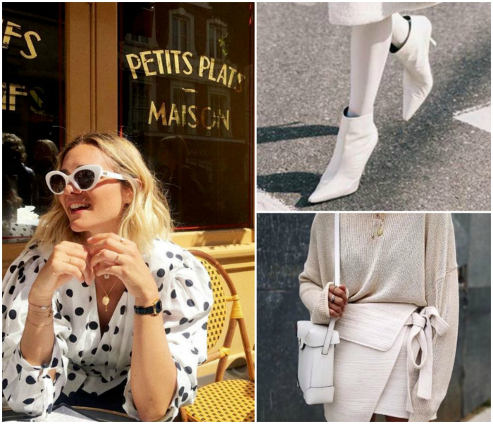 Обувь, сумки и очки белого цвета.   Фото: Шкатулка красоты, Subscribe.Ru, edni.net.