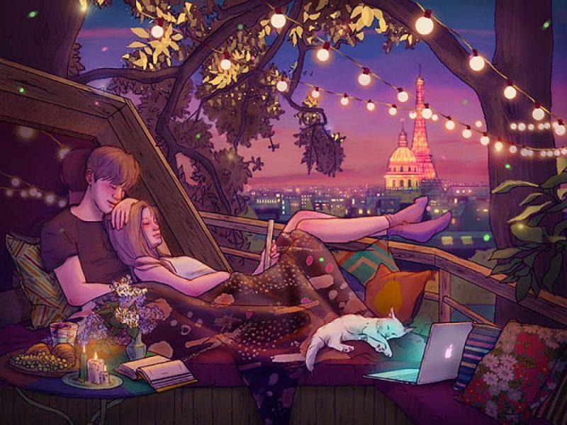 Просто отдыхать вместе после просмотра хорошего шоу