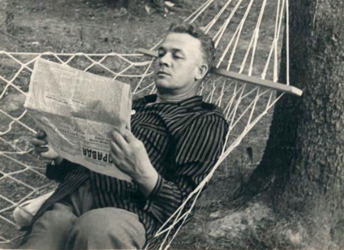 Сергей Лемешев на даче, 1940-е гг. | Фото: kino-teatr.ru