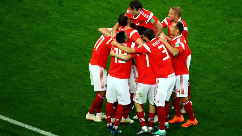 Сборная России обыграла Египет в матче ЧМ-2018