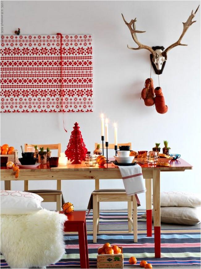 Украшение дома на новый год в Шведском стиле.