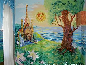 Настенная роспись и рельеф из шпаклевки | Ярмарка Мастеров - ручная работа, handmade