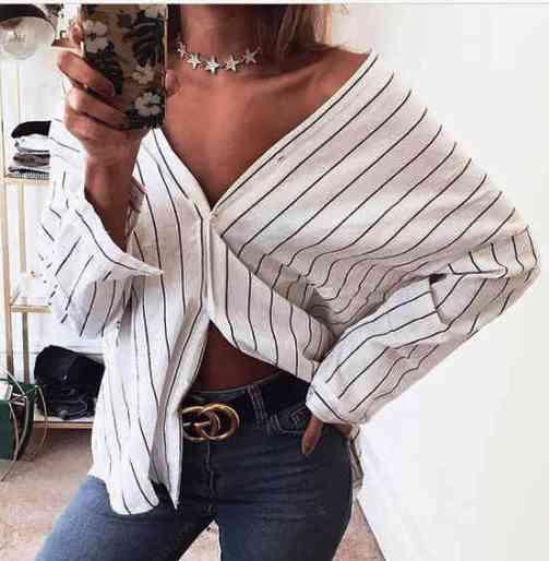 Тренд лета 2018 — оригинальные блузки и рубашки  в полоску