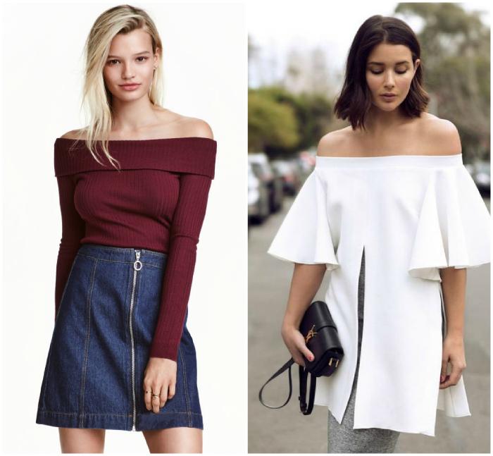 Платья и туники с открытыми плечами.   Фото: Pinterest.