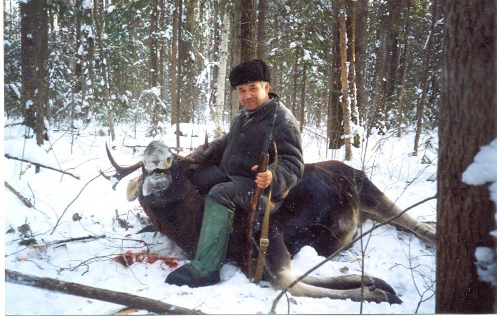 Охота на лося  - начало
