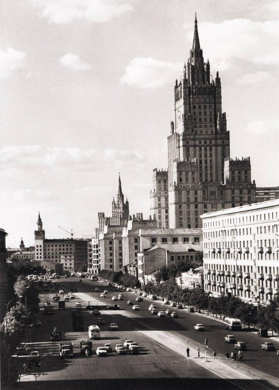 9. Смоленская площадь до и после, дороги, интересно, история, столица, тогда и сейчас, фото москвы