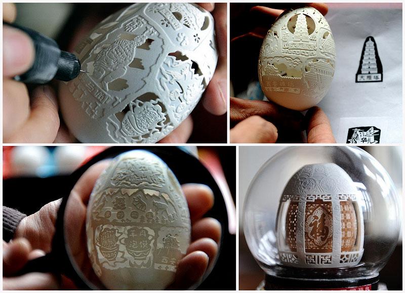 TEMP89 Скульптуры из яичной скорлупы