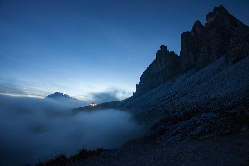 Фото горного массива Тре-Чиме-ди-Лаваредо (2 999 м), Италия горы, красиво, небо, облака, природа, творчество, фото, фотограф
