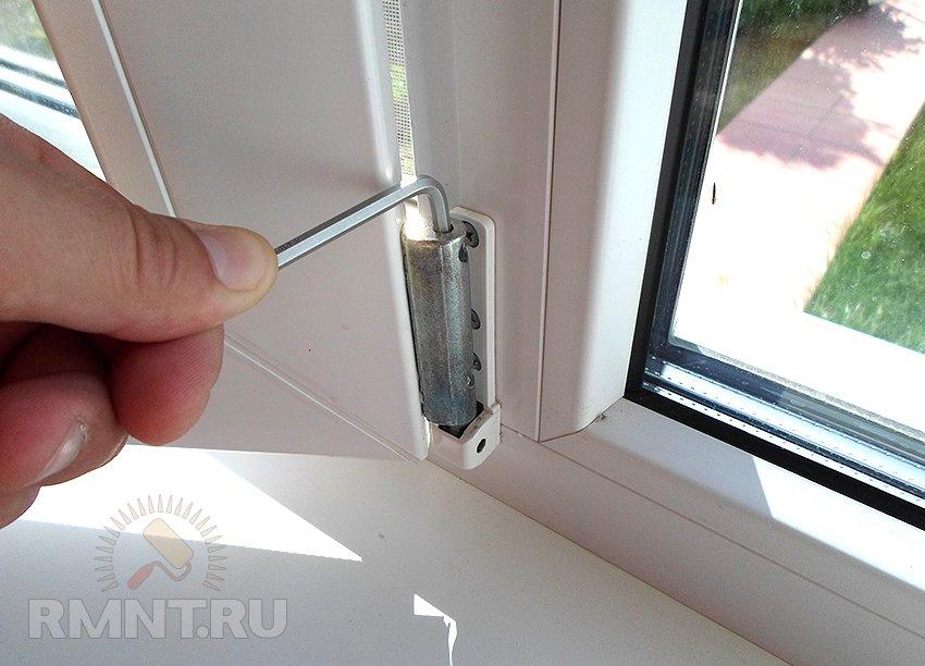 Регулеровка пластиковый балконной двери..