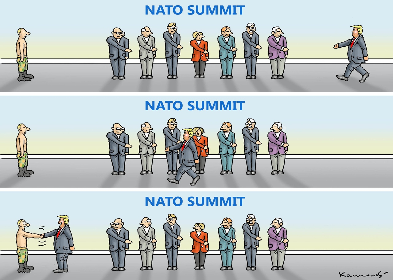 ЮЛИЯ ВИТЯЗЕВА: САММИТ США-НАТО — ЛЮБОВЬ ПОВЕРНУЛАСЬ КО МНЕ ЗАДОМ
