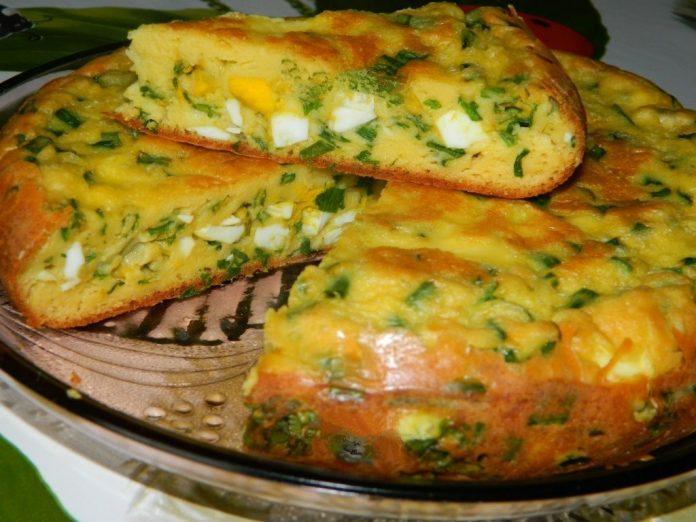 Девчонки, не пропустите сезон — Пирог с яйцами и зеленым луком