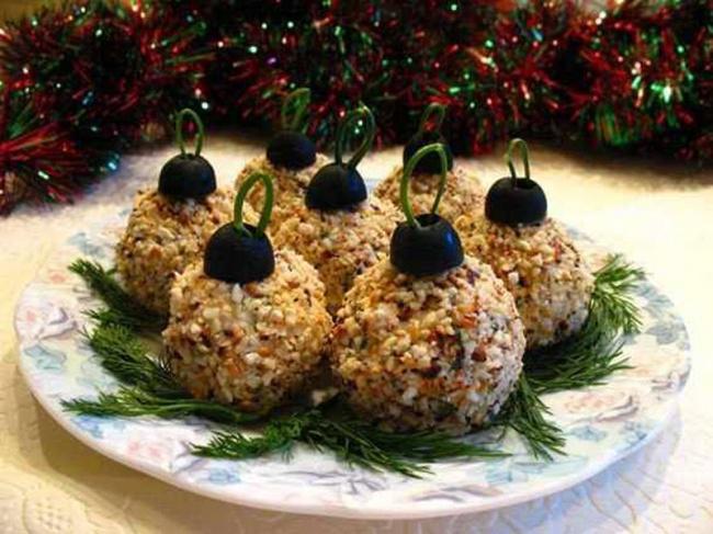 Елочные шары - вкусная новогодняя закуска!