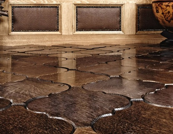 Wood flooring tiles