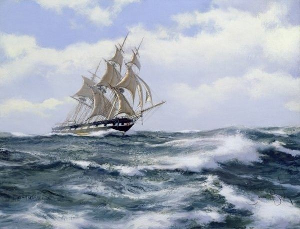 Brereton James. Картины маслом море. Marco Polo. The Fastest Ship in the World, 2003