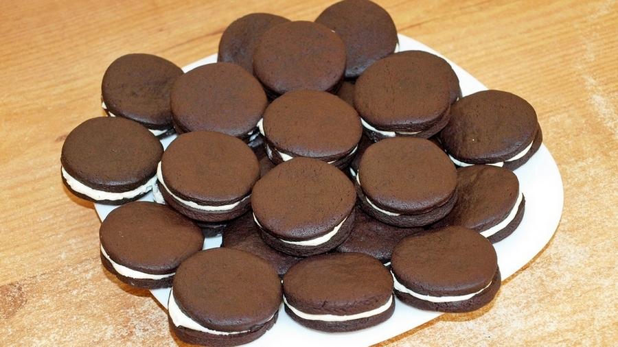 Шоколадное печенье как Орео - видео рецепт