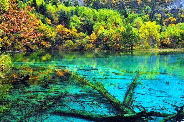 Озеро Пяти цветов – красота, которую редко встретишь китай, природа, озеро, Пять цветов, красота
