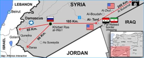 Русские строят военную базу в Сирии прямо возле Израиля и напротив американского гарнизона!