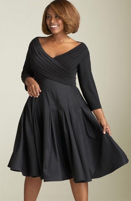 Фасоны платьев для полных женщин в возрасте после 50[7]